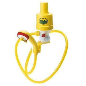 空気圧式ポータブルシャワーポンプ(携帯シャワー/便利グッズ) レバー通水・止水可 〔アウトドア レジャー キャンプ〕