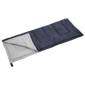 寝袋/シュラフ 【封筒型】 適応温度:12度〜 洗える ダークネイビー 『キャプテンスタッグ/CAPTAIN STAG フォルノ』