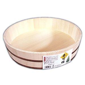 寿司桶/飯台 【2升 45cm】 大きいサイズ 日本製 〔手巻き寿司 ちらし寿司 盛り付け用 パーティ〕