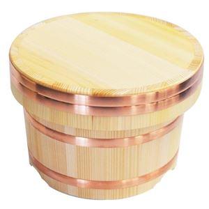 さわらのおひつ/江戸びつ 【5合】 本体内寸サイズ:直径18.5cm×12.2cm 天然木使用 日本製