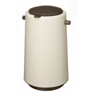 おむつ用ゴミ箱/おむつポット 【20L】 専用消臭剤付き 『プーポット』 ブラウン - 拡大画像