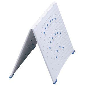 バスマット用敷きパネル 幅66.5cm ポリプロピレン製 折りたたみ 凹凸形状 〔湿気対策 梅雨対策 お風呂便利グッズ〕 - 拡大画像