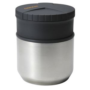 保温ランチボックス/お弁当箱 【縦型】 バッグ付き ブラック 真空断熱構造 男性向け 『クレズHL』