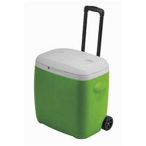 ホイールクーラー/クーラーボックス 【28L】 グリーン 缶ホルダー2箇所付き 『キャプテンスタッグ/CAPTAIN STAG リガード』 - 拡大画像