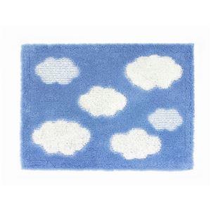 オカ 乾度良好バスマット クラウド 45×60cm B(ブルー)