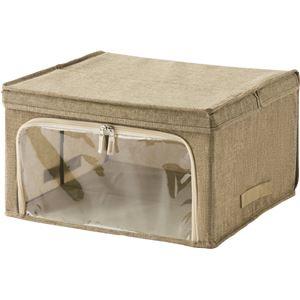 天馬 プロフィックス ジッパー開閉ボックス 43 ライトブラウン ( 衣類 収納ケース )
