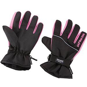 【キャプテンスタッグ】 防寒グローブ ST/手袋 【Lサイズ ブラック×ピンク】 高機能保温素材使用