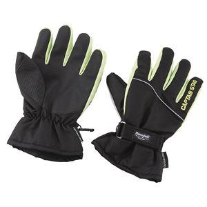 【キャプテンスタッグ】 防寒グローブ ST/手袋 【LLサイズ ブラック×グリーン】 高機能保温素材使用