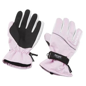 【キャプテンスタッグ】 防寒グローブ ST/手袋 【レディース Lサイズ ピンク×ホワイト】 高機能保温素材使用
