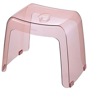 リッチェル 風呂椅子 カラリ 腰かけ 高さ30cm クリアピンク ( 風呂 イス バスチェア )