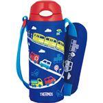【THERMOS サーモス】 水筒 真空断熱ストローボトル 【保冷専用 ブルー】 400ml フタ:ワンタッチオープン