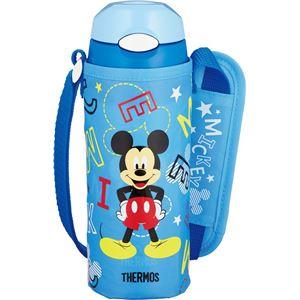【THERMOS サーモス】 水筒 真空断熱ストローボトル 【保冷専用 ミッキー ブルースター】 400ml フタ:ワンタッチオープン