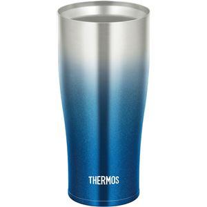 【THERMOS サーモス】 真空断熱タンブラー/カップ 【スパークリングブルー】 420ml 食洗機可 ヘアライン仕上げ ステンレス製