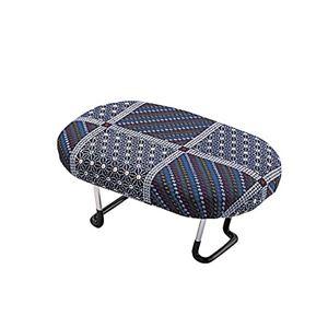 正座椅子/正座補助椅子 【紺】 折りたたみ式 重量(約):600g 日本製 〔法事 仏事 座り仕事 携帯用〕