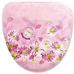 オカ デイジーマルシェ 洗える洗浄・暖房専用フタカバー 吸着タイプ ピンクの画像