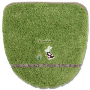 ナチュラル フタカバー/便座カバー 【洗浄・暖房専用】 グリーン 吸着タイプ 『シャンラパン』