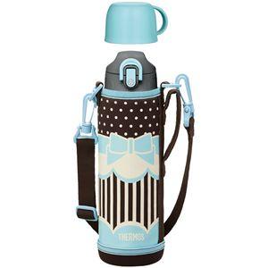 【THERMOS サーモス】 水筒 真空断熱2WAYボトル 【1.0L リボンブルー】 大容量 直飲み&コップ付き 軽量 コンパクト