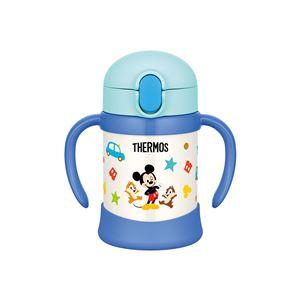 【THERMOS サーモス】 ベビーストローマグ/赤ちゃん用水筒 【250ml ライトブルー】 ディズニー柄 月齢9ヶ月頃〜 ハンドル付き