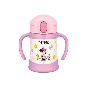 【THERMOS サーモス】 ベビーストローマグ/赤ちゃん用水筒 【250ml ライトピンク】 ディズニー柄 月齢9ヶ月頃〜 ハンドル付き