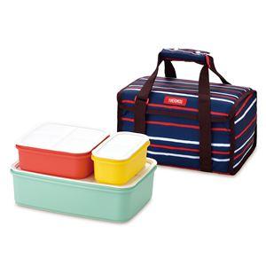 【THERMOS サーモス】 フレッシュランチボックス/行楽弁当箱 【4〜6人用 ネイビー】 食洗機対応 専用保冷バッグ付き