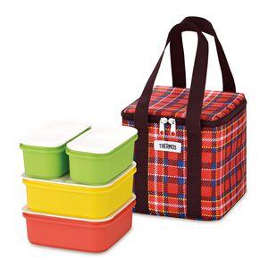 【THERMOS サーモス】 フレッシュランチボックス/行楽弁当箱 【3〜4人用 レッド】 食洗機対応 専用保冷バッグ付き