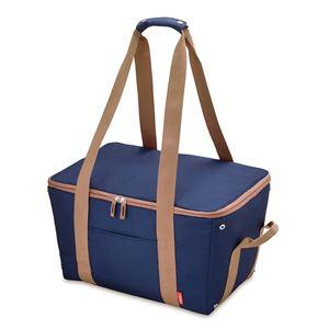 【THERMOSサーモス】保冷レジカゴバッグ【ブルー】25L折りたたみ手くるみ・底板付き