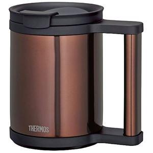 【THERMOS サーモス】 真空断熱 マグカップ 【クリアブラウン】 0.28L ステンレス魔法びん構造 フタ付き 洗える