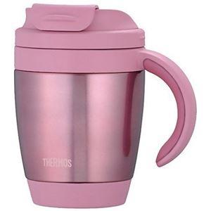 【THERMOS サーモス】 真空断熱 マグカップ 【ピンク】 270ml 軽量 コンパクト ステンレス魔法びん構造 広めフラップ