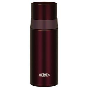 サーモス 水筒 350ml ステンレスボトル スリム FFM-350 ブラウン