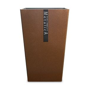 橋本達之助工芸 ダストBOX メタリカ 角 ショコラブラウンメタリック(CBWM) Mサイズ 6.7L 159607 (ごみ箱)