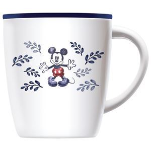 真空断熱マグカップ/コップ 【ネイビー ミッキーマウス】 330ml 保温 保冷 フタ付き