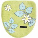 北欧調 フタカバー/便座カバー 【グリーン ドレニモ】 普通型、洗浄・暖房型対応可 日本製 洗える 『ノルン』