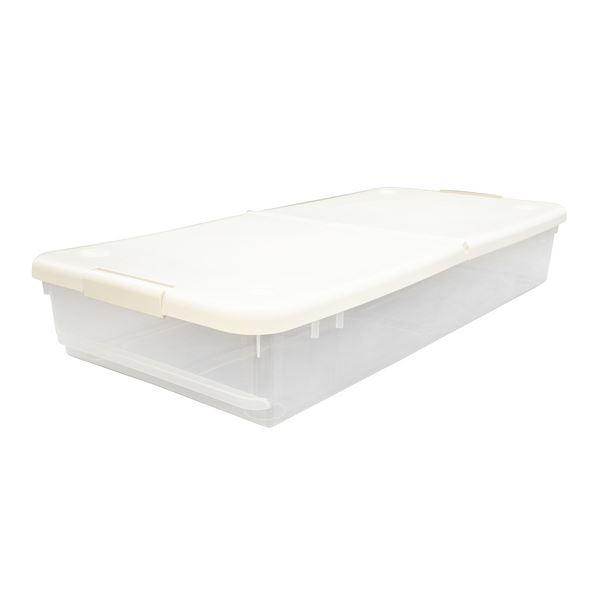 ベッド下 収納ボックス/収納ケース 【幅45cmSロング】 幅45×奥行98×高さ17cm 『とっても便利箱』