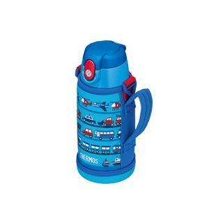 【サーモスTHERMOS】2WAYステンレスボトル/水筒【ライトブルー】600ml真空断熱保温保冷〔スポーツオフィス〕