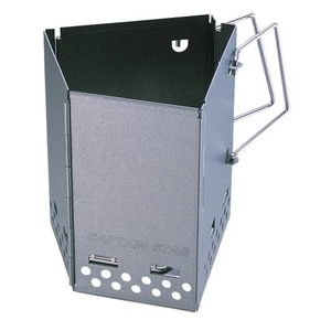 火起こし器/アウトドア用品 【幅18.5cm】 重さ1.0kg 折りたたみ式 『パール金属 炭焼名人 FD火起し器』 〔キャンプ用品〕