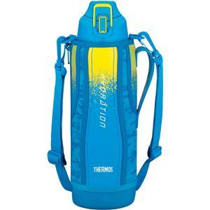 【サーモス】真空断熱スポーツボトル/水筒【ブルーカモフラージュ1.5L】幅9.5cm軽量保冷専用魔法瓶式〔アウトドア〕