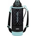 【サーモス】 真空断熱 スポーツボトル/水筒 【ドットブラック 1.5L】 幅9.5cm 軽量 保冷専用 魔法瓶式 〔アウトドア〕