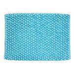 バスマット ポコモコマイクロファイバー ブルー 45×60cm (マット 給水 速乾 足拭き 浴室 風呂 水まわり タオル地)
