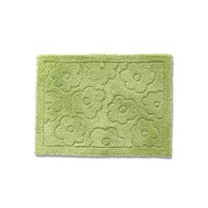 バスマット 乾度良好 サニー 吸水 抗菌 防臭 グリーン 約36×55cm
