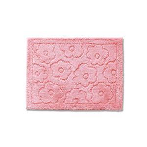 バスマット 乾度良好 サニー 吸水 抗菌 防臭 ピンク 約36×55cm