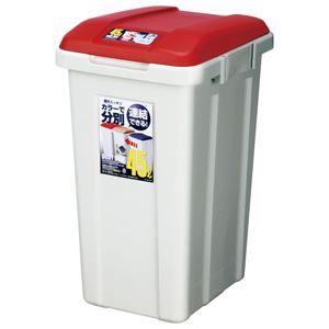 アスベル ゴミ箱 45L 大容量 R分別ダストボックス45(ジョイント式) レッド (屋外 ベランダ)