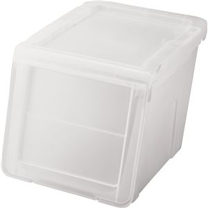 天馬 カバコ 収納ボックス ( スリムMサイズ ) クリア プロフィックス ( プラスチック フタ付き 衣装ケース おもちゃ収納 )