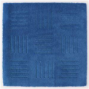 吸着式 キッチンマット/台所マット 【ブルー】 60×60cm 正方形 ジョイント式 洗える 『オカ ピタプラス ブリック』