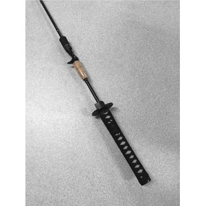 名刀釣竿 日本刀型 釣り竿 釣竿 つりざお フィッシング ロッド 黒色