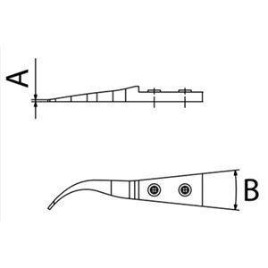 DUMONT(デュモント) 10004-B7-SM 先端交換式ピンセット ツゲ