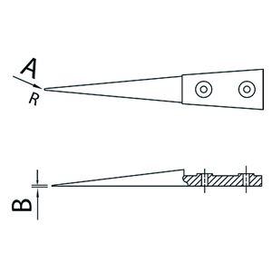 DUMONT(デュモント) 10004-D15-SM 先端交換式ピンセット 白デルリン