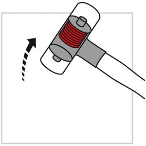 PB SWISS TOOLS 303-7 無反動ナイロンハンマー(グラスファイバー柄)