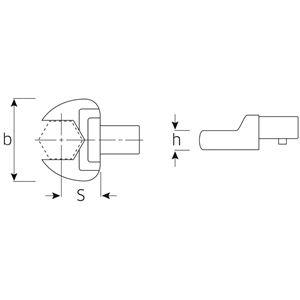 STAHLWILLE(スタビレー) 731/10-10 トルクレンチ差替ヘッド(スパナ)(58211010)