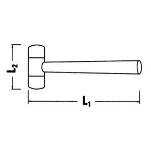 STAHLWILLE(スタビレー) 10955-40 プラスチックハンマー (70160040)
