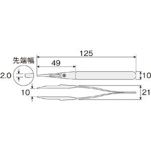 HOZAN P-610-G ソフトチップピンセット